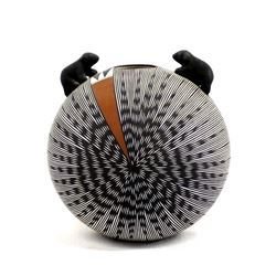 Acoma Fine Line Eyedazzler Seed Jar, Fred Vallo Jr