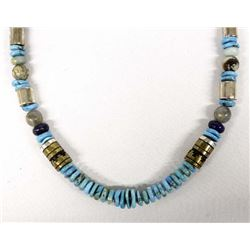 Navajo Graduated Bead Necklace by Tommy Singer
