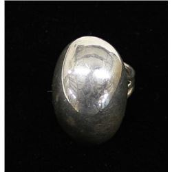 Navajo Sterling Dome Ring by Orville Tsinnie, Sz 8