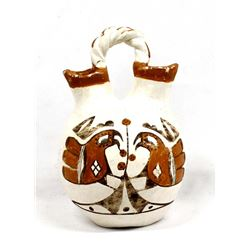 Vintage Acoma Pottery Wedding Vase by Lucy M Lewis