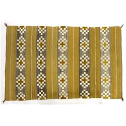 Native American Navajo Burnt Water Wool Textile