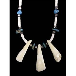 Navajo Heishi, Elk Teeth, & Turquoise Necklace