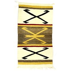 Navajo Traditional Wool Textile Rug