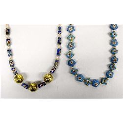 2 Hand Crafted Cloisonne Necklaces