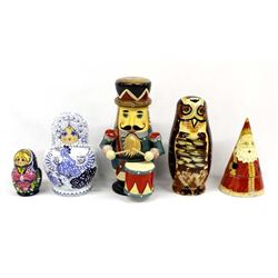Collection of 5 Nesting Dolls