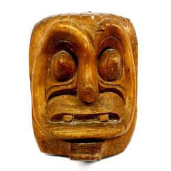 Vintage Hand Carved Polynesian Wood Mask