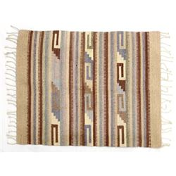 Mexican Geometric Fringed Rug