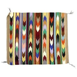 Native American Navajo ''Arrow'' Wool Textile Rug