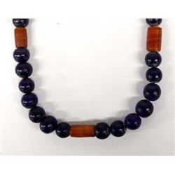 Beautiful Cobalt Blue Trade Bead Necklace