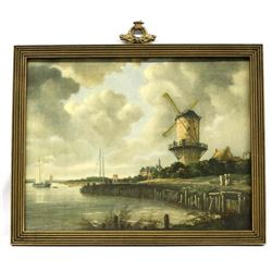 Antique Dutch Windmill Framed Print