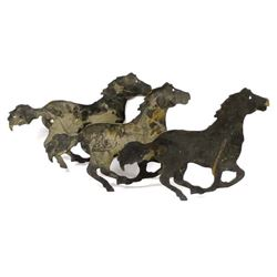 Rustic Laser Cut Metal Horses Wall Decor