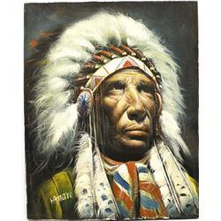 Original Native American Painting by I. Amaro