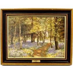 Bluebell Wood Print by E. G. Warren