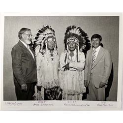 Vintage Photograph of 2 Native American Chiefs