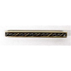 Gold & Sterling Silver Tie Clasp