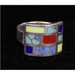 Southwestern Sterling Silver Ring, Size 8