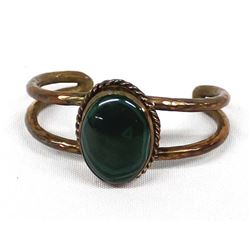 Copper & Malachite Cuff Bracelet by Dave Umpleby