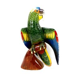 Mexican Hand Crafted Balsa Wood Parrot Figure