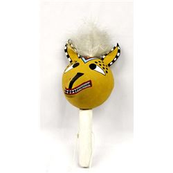 Native American Hopi Gourd Coyote Rattle