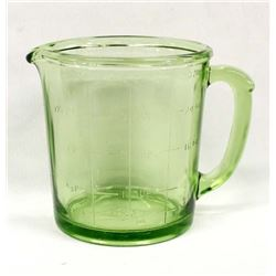 Vintage Hazel Atlas Vaseline Glass Measuring Cup