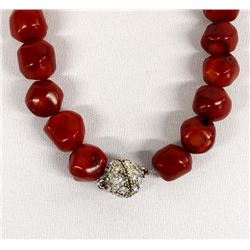 Blood Red Branch Coral Choker Necklace