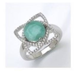 STERLING SILVER BRAZILIAN SAKOTA EMERALD RING
