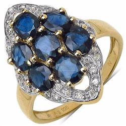 STERLING SILVER BLUE SAPPHIRE RING