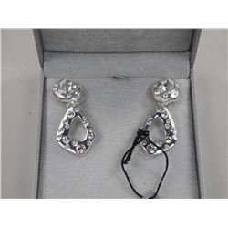 MMCrystal Earrings, 2 Bezel, Pear Swarovski Elemen