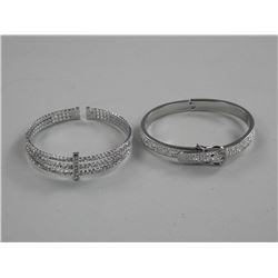 2x Custom Bangle Bracelets Cuff and Buckle Design