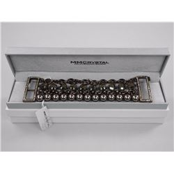 Ladies MMCrystal Bracelet. 10 Bezel, Brown Oval Sw