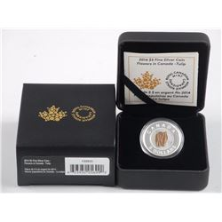 2014 - $5.00 .9999 Fine Silver Coin 'Flowers in Ca
