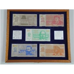 Bank of Israel - (5) Silver Banknote Set with Coll