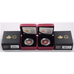 2x RCM .9999 Fine Silver $25.00 Coins 2014 and 201