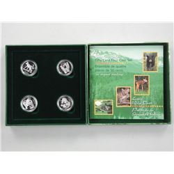 Little Wild Ones - 4pc 925 Silver Coin Set. (CR)