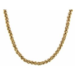 """24"""" 24kt Gold Plated Round Link Chain (024) 18/10"""