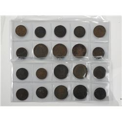 20x Colonial Tokens 1800's.
