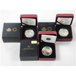 3x Tradition of Hunting $5.00 .9999 Fine Silver Co