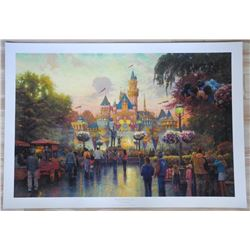 "Thomas Kinkade (1958-2012) ""Disneyland 50th Anniv"