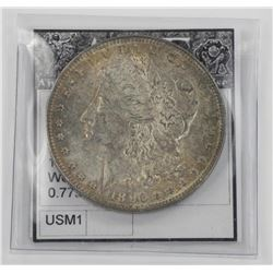 1896 USA Silver Morgan Dollar w/C.O.A.