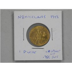 1928 Netherlands - 1 Ducat Gold Coin .986 Fine.