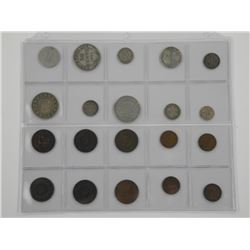 20x Coin of NFLD Mix of Silver and Copper.