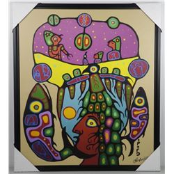 Christian Morrisseau (1969 -) Giclee Canvas 'The V