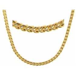 "22"" Gold Plated 18/10 Stainless Steel Chain."