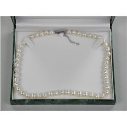 "16"" Strand 7 1/2-8 1/2mm Pearls Hand Knotted. (Ap"