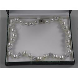 "Ladies Pearl Strand Necklace 18.0"" Princess Lengt"