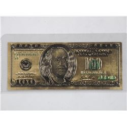 24kt Gold Leaf - USA $100.00 - Bank Note.
