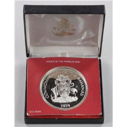 1974 - .925 Silver Proof Bahamas $10.00 Coin.