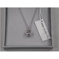 "Ladies MMCrystal Pendant and Chain 16.0""Long. 1 B"