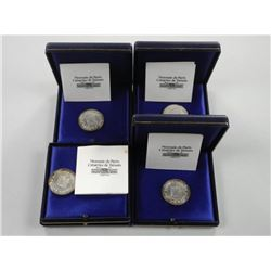 4x Silver Coin of 'Paris'.