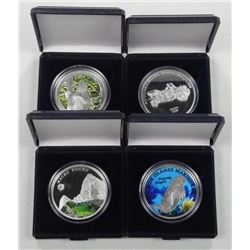 4x .925 Silver Collector Coins w/Special High Tech